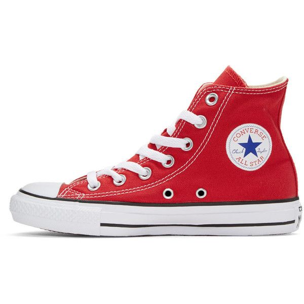 Converse Red Classic Chuck Taylor All Star OX High-Top Sneakers (218415  PYG) ❤ liked on Polyvore featuring shoes be518fd87