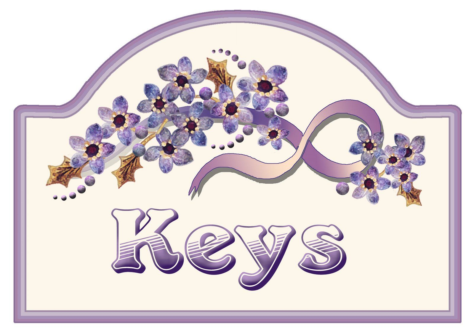 ArtbyJean Purple Wood Roses Make your own key keeper with this
