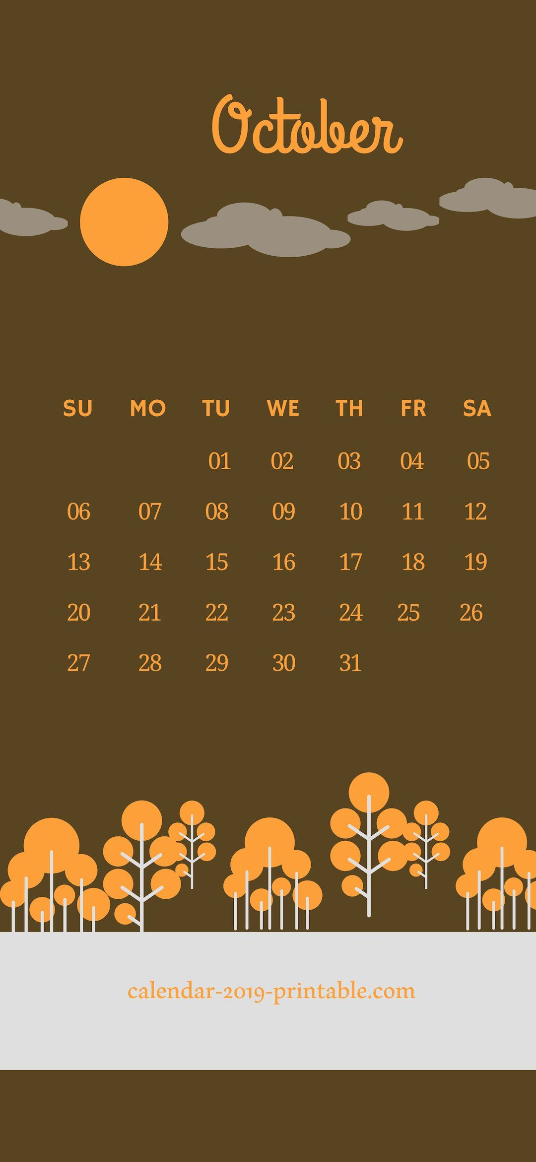 October 2019 Iphone Calendar Wallpaper Calendar Wallpaper