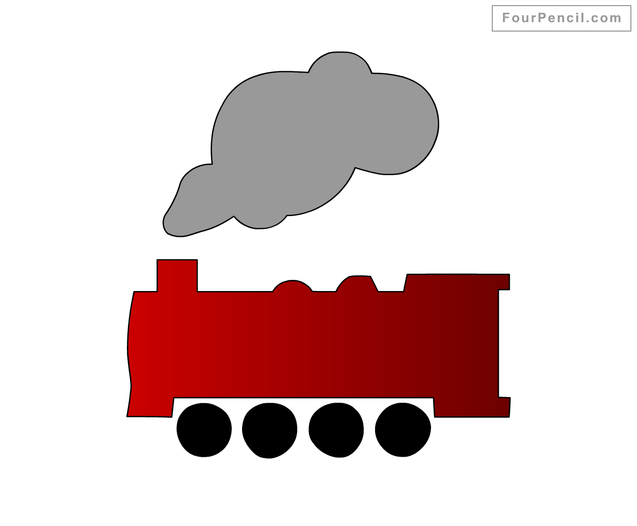 how to draw train for kids step by step drawing tutorial draw