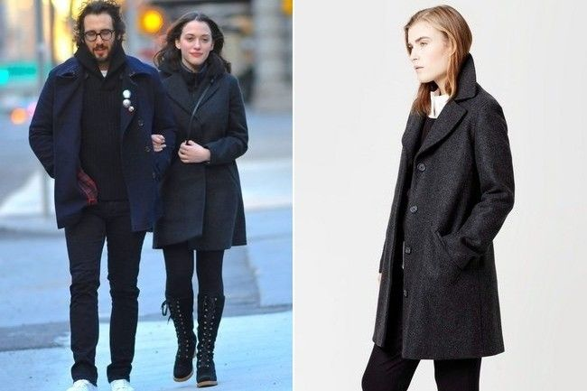 Found: Kat Dennings' Wool Coat