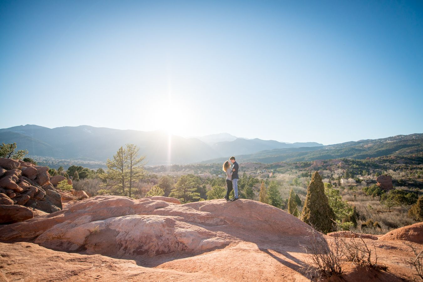 Proposal Mountain Engagements Colorado Springs Pikes