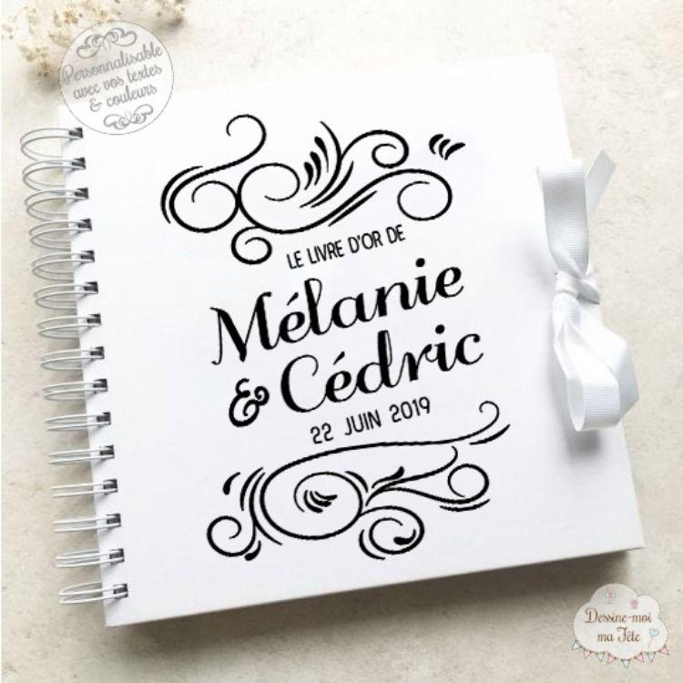Livre D Or De Mariage Personnalisable Sous Forme D Un Album