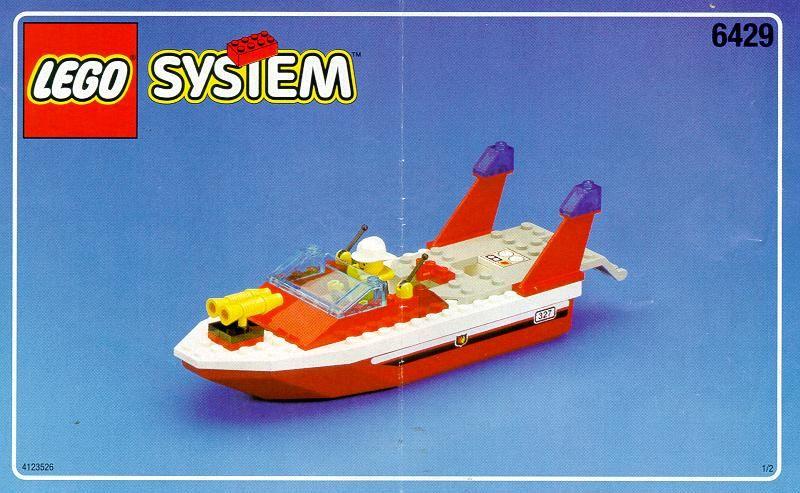 City Fire Boat Lego 6429 Lego Fire Veh Pinterest Lego
