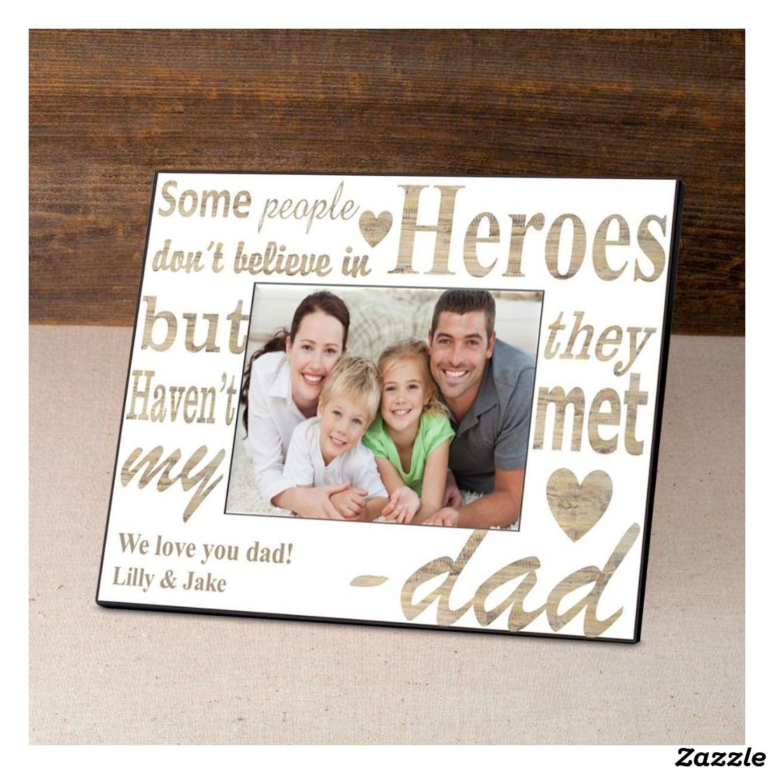 Dad Frame My Hero In 2018 Wedding Picture Frames Pinterest