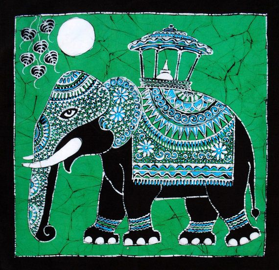 Batik Art, Elephant Art, Batik Elephant