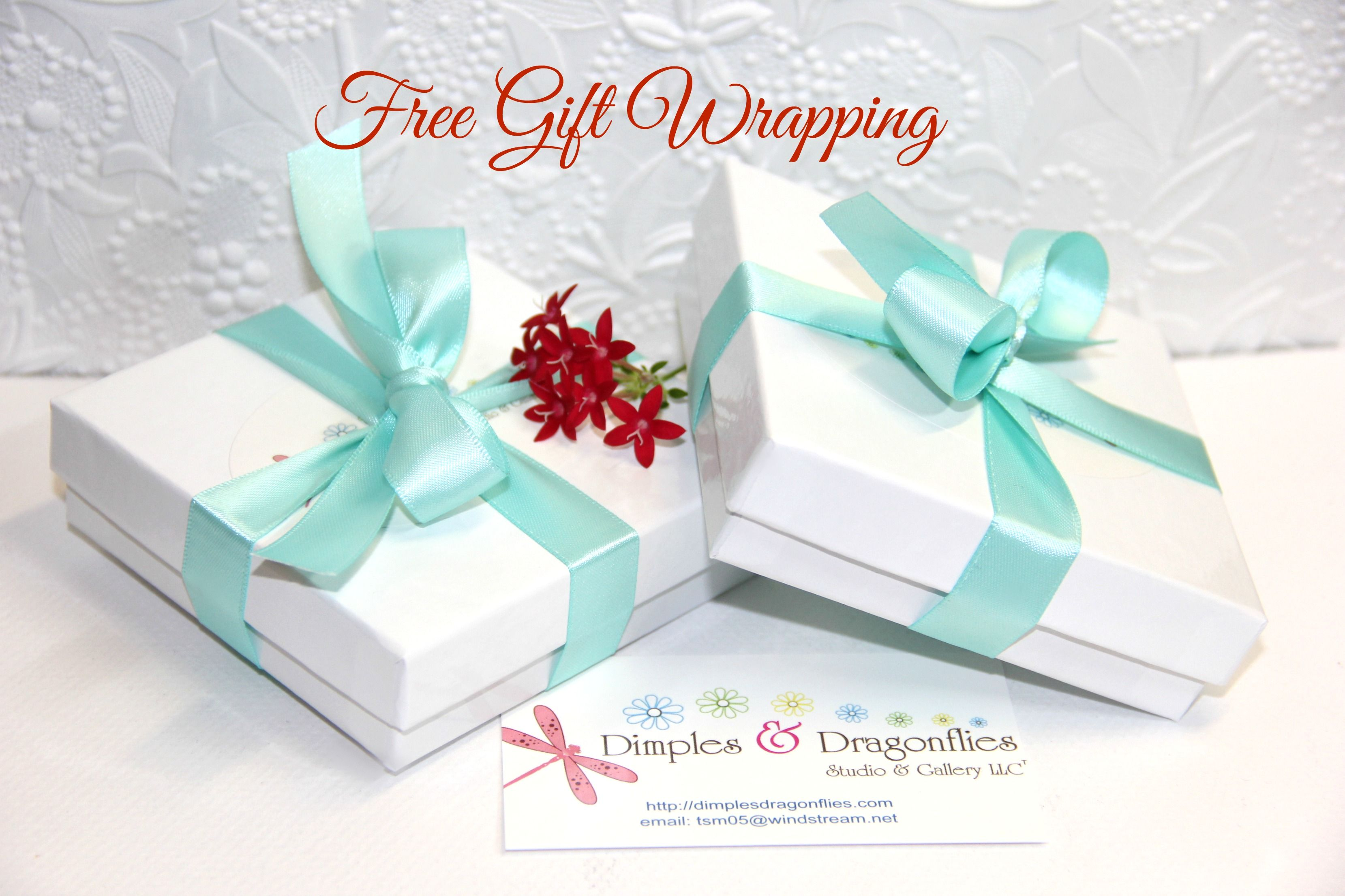 FREE GIFT WRAPPING With Every Purchase From Dimples and Dragonflies ...