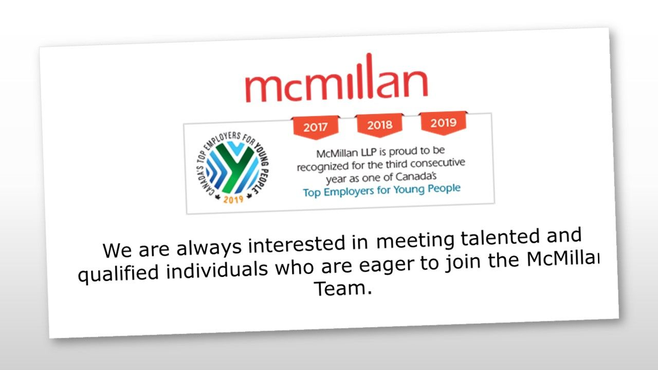 At Mcmillan We Offer Challenging Work In A Stimulating And Fast