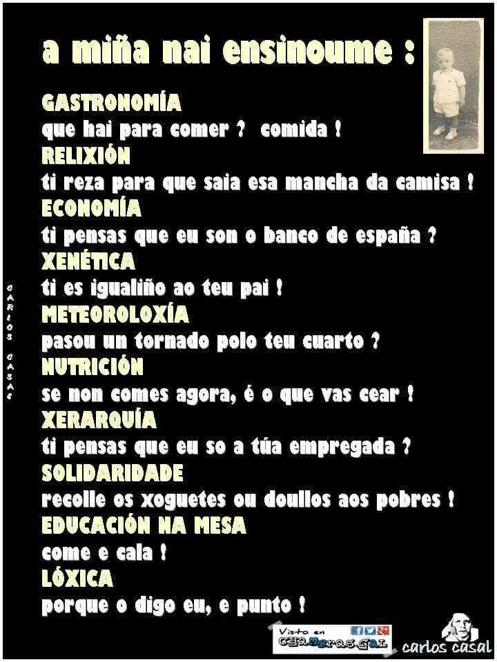 Ensinanzas Dunha Nai Galego In 2019 Imágenes Graciosas Frases