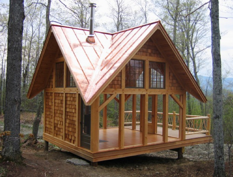 Cool Hideaway By Birdseye Design Aframehome Building A Tiny House Tiny House Rustic Backyard Structures