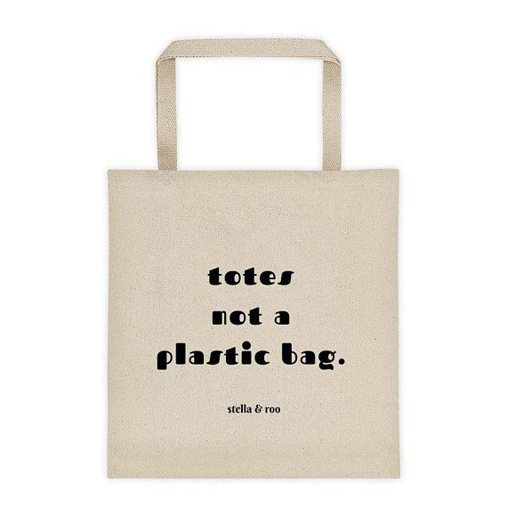 Plastic Totes Not Tote Planet A Canvas Save The Bag thCoQdsxBr