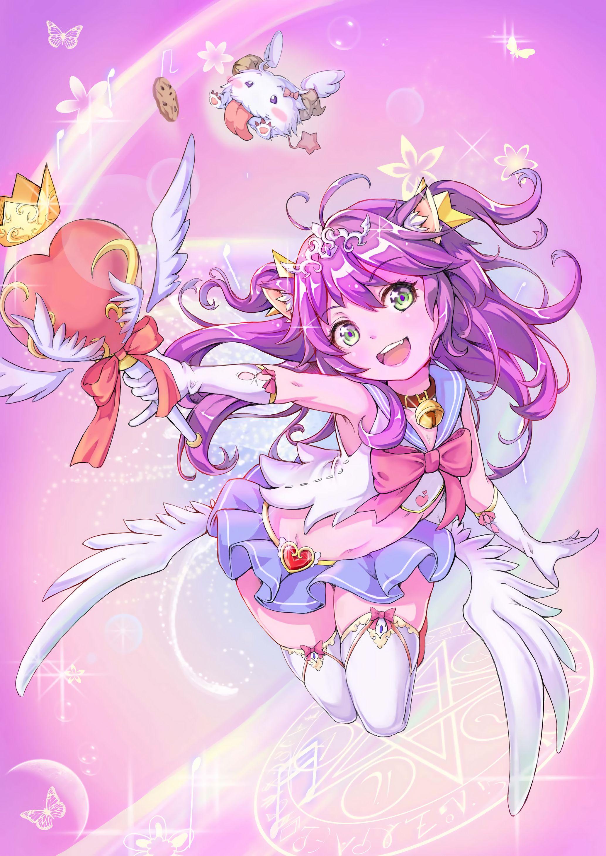 Star Guardian Lulu by CeNanGam HD Wallpaper Background Fan Art Artwork League of Legends lol
