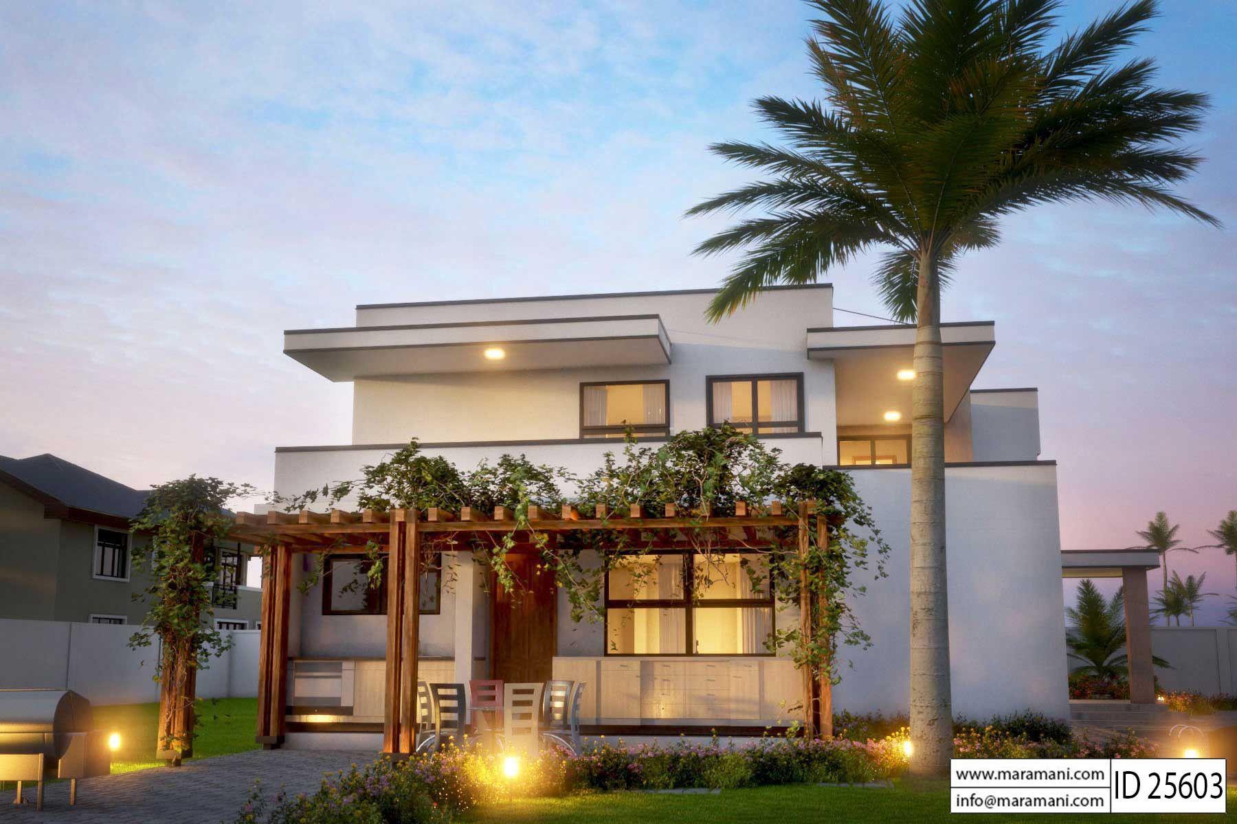 Modern 5 Bedroom House Design Id 25603 Floor Plans By Maramani 5 Bedroom House Plans Contemporary House Plans Farmhouse Plans