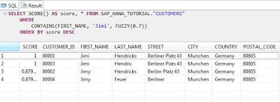 How to use the Fuzzy Search in SAP HANA | SAP HANA Learning