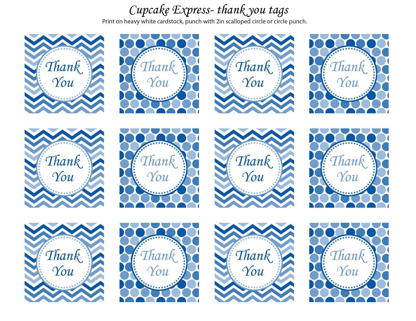 blue white thank you tab | Cupcake Express: freebies | PRINTER'S ...