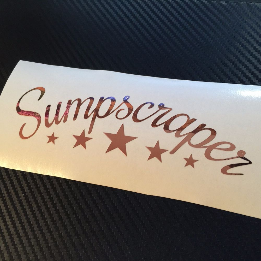 Rose Gold Chrome Sumpscraper Car Sticker Decal Jdm Drift Vdub Stance Low Bagged Rtape Rose Gold Chrome Car Stickers Jdm [ 1000 x 1000 Pixel ]