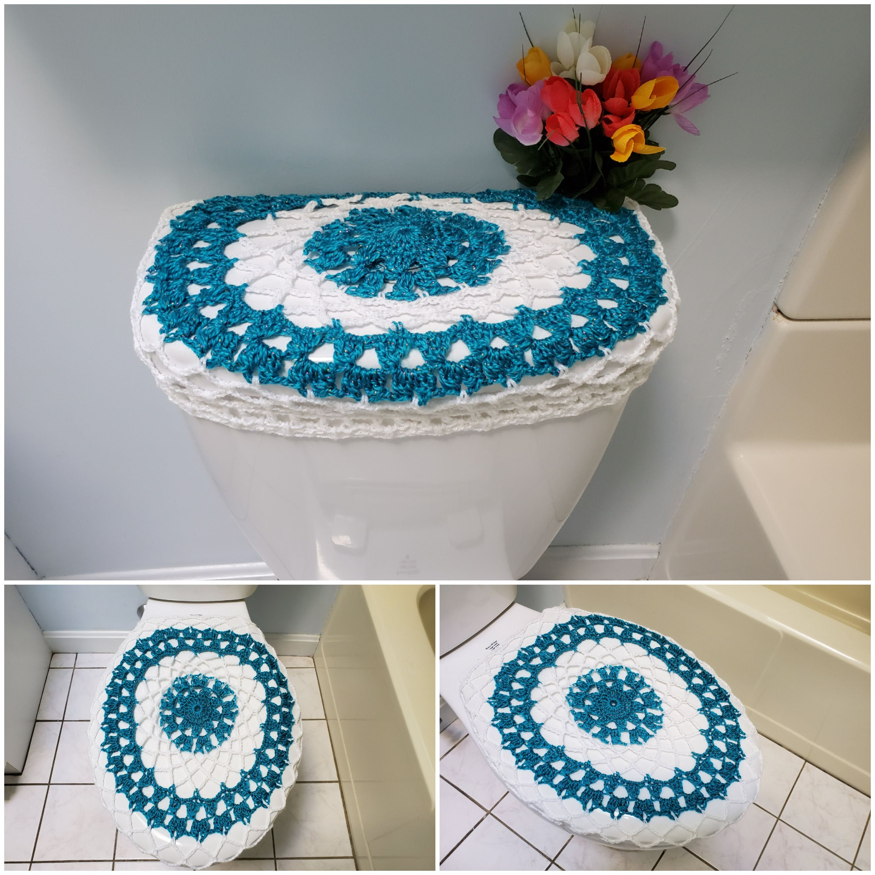 Crochet Toilet Seat Cover.Toilet Seat Covers Tank Lid Covers Crochet Toilet Seat