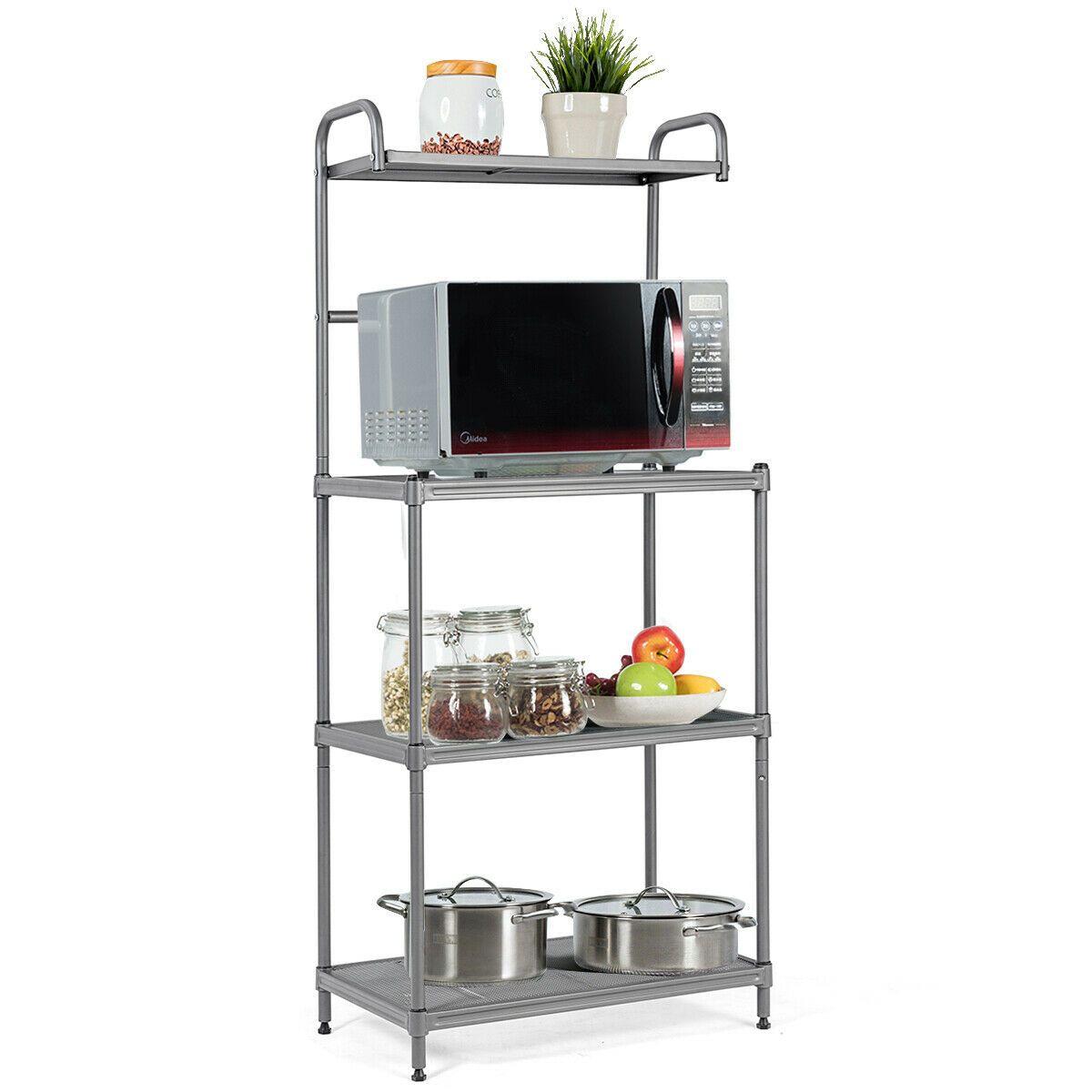 4 Layer Kitchen Microwave Oven Stand Rack Baker Shelf Organize Storage