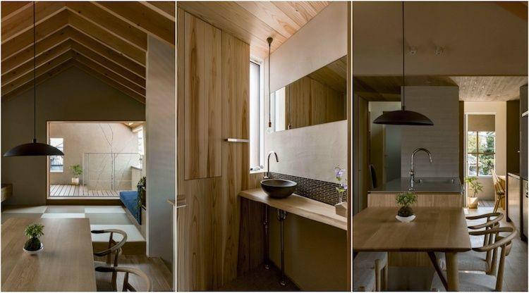 Style japonais impeccable- l\u0027aménagement d\u0027une maison en longueur - Plan Maison En Longueur
