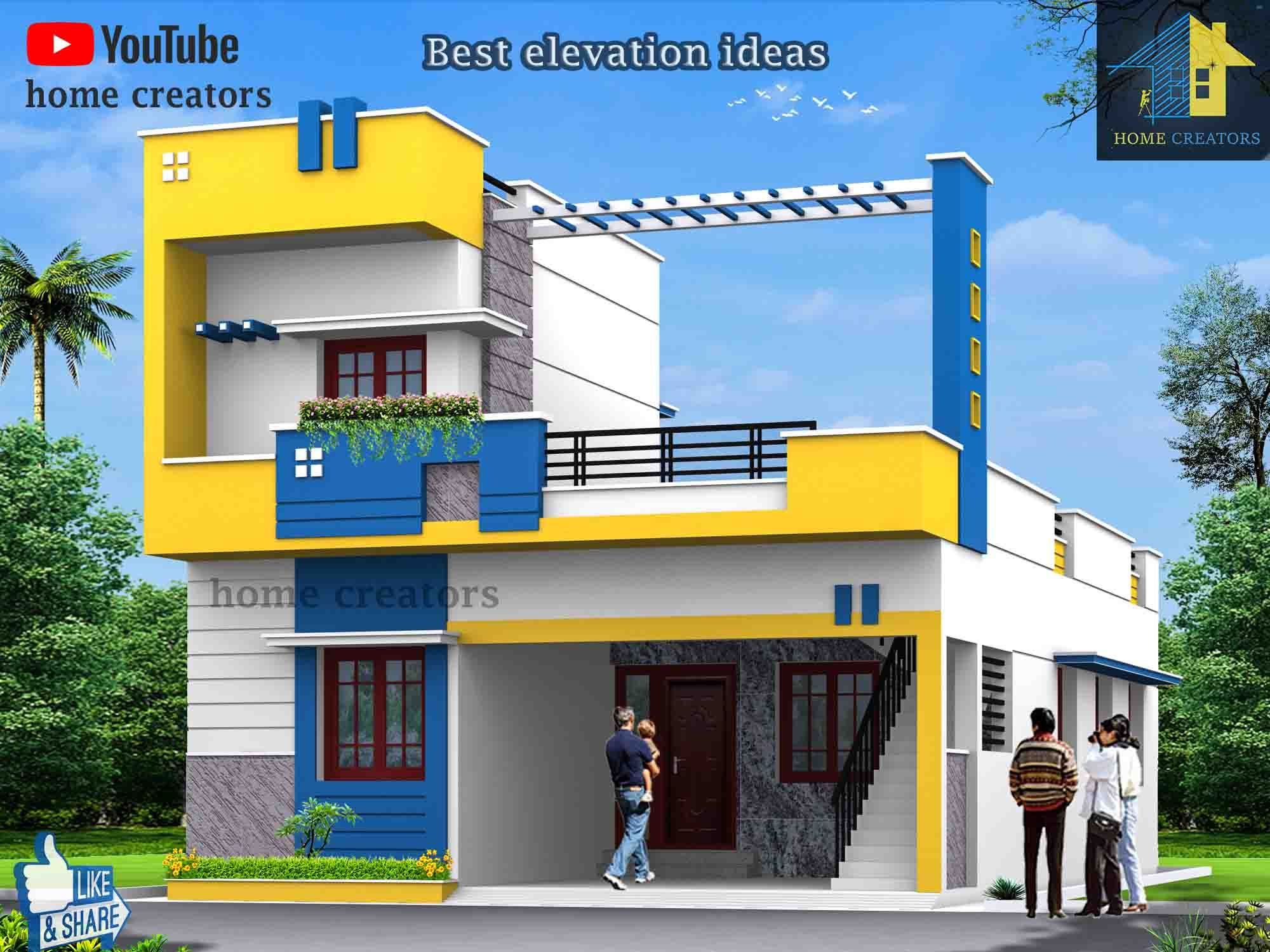b981e10191cc61ed81ca5e73c4498091 - View Single Floor Small House Modern Single Floor Small House House Elevation Design Background