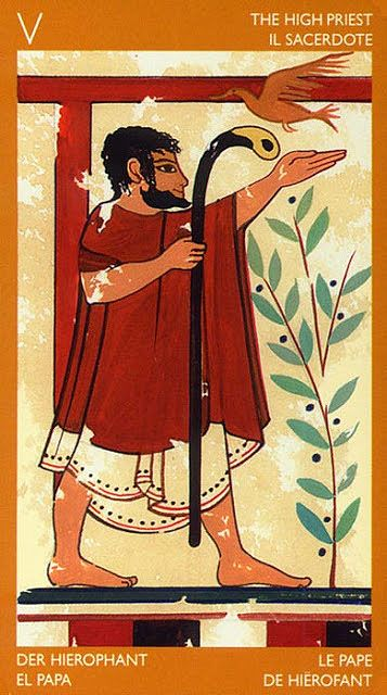 The High Priest (The Hierophant) - Etruscan Tarot