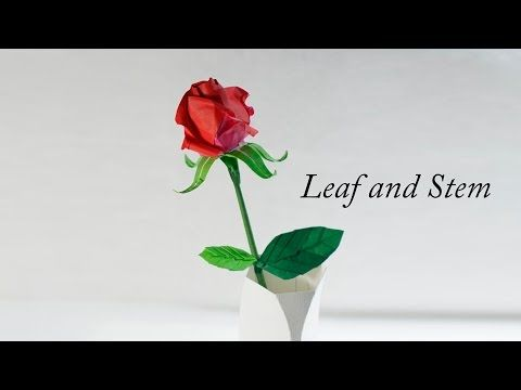 How to make origami leaf and stem for flowers henry phm youtube how to make origami leaf and stem for flowers henry phm youtube origami videos pinterest origami leaves and confirmation mightylinksfo