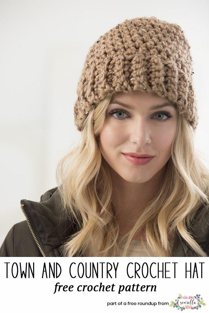 Crochet Hat Patterns that Look Knit | Pinterest | Gorros crochet ...