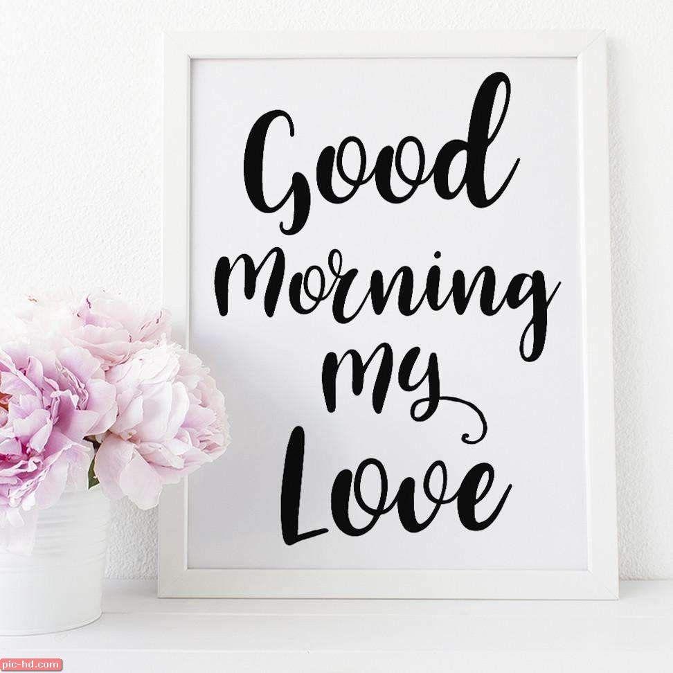 صور رمزيات صباح الخير حبيبي بالانجليزي Good Morning My Love Good Morning Quotes Good Night Quotes