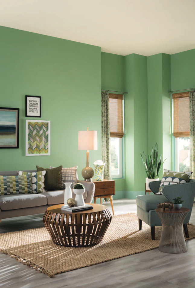 How To Paint Your Walls To Make Any Space Look Bigger Living Room Paint Paint Colors For Living Room Sage Green Paint