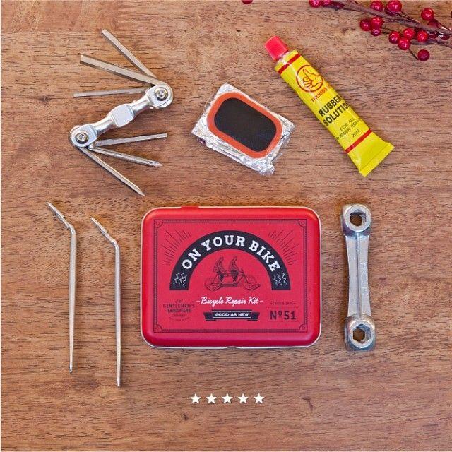 The gentleman's hardware bicycle repair kit organised ... on Rk Outdoor Living id=92990