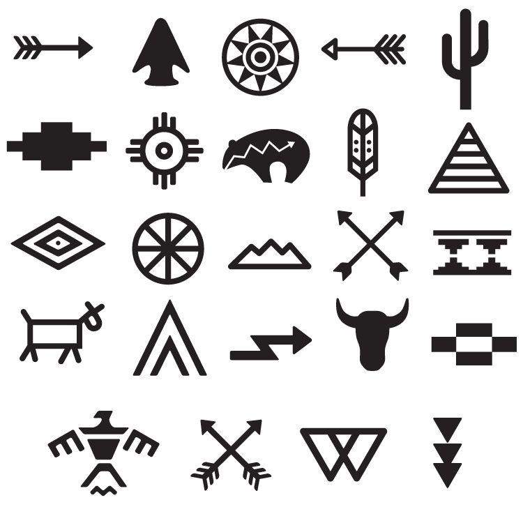 Tribal Symbols Tattoo Set 668 Boho Tribal Tattoos Pinterest