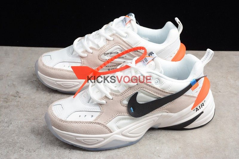 Custom Off-White x Nike M2K Tekno Phantom White Crimson Olive Grey - Nike ad6203b04c2f