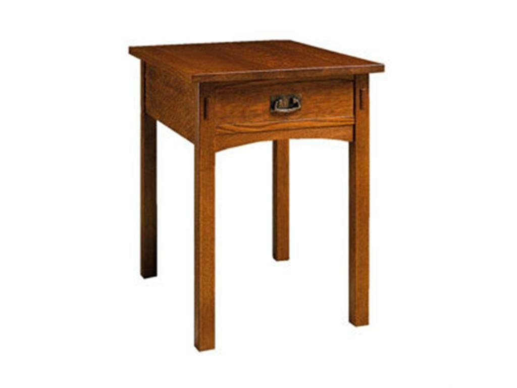 stickley living room rectangular end table 89-501 - woodbridge