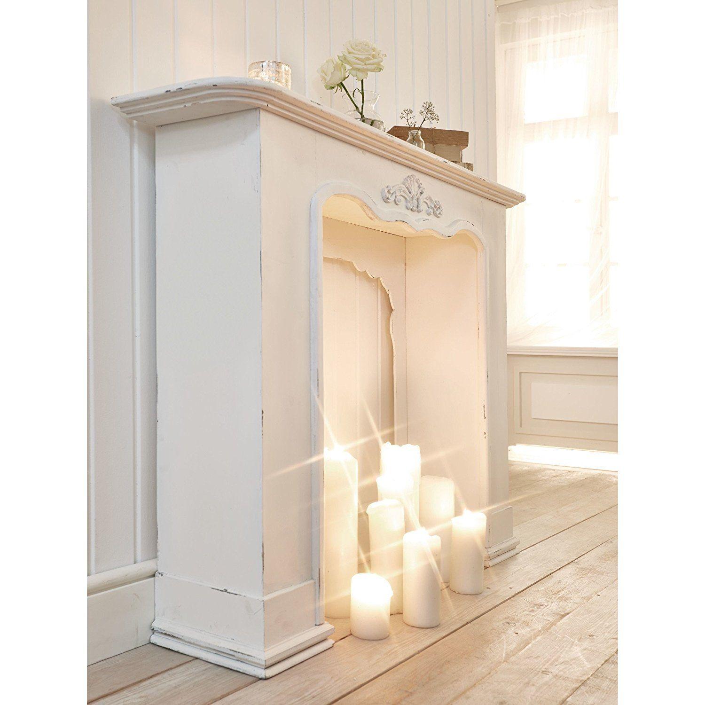 miavilla kaminumrandung victoria shabby chic landhausstil antik wei wohnzimmer ideen lampen. Black Bedroom Furniture Sets. Home Design Ideas