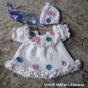 Maggies Dress Baby Crochet Pattern #135 - via @Craftsy