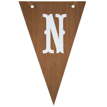 Wood & White Letter Pennant - N | Nursery/Kids Rooms/Playroom Ideas ...