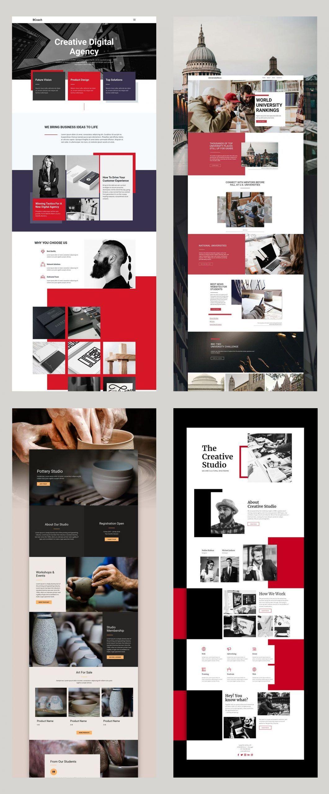 Kostenlose Vorlagen Von Nicepage Builder Builder Kostenlose Nicepage Von Vor In 2020 Corporate Website Design Web Layout Design Website Design Inspiration Business