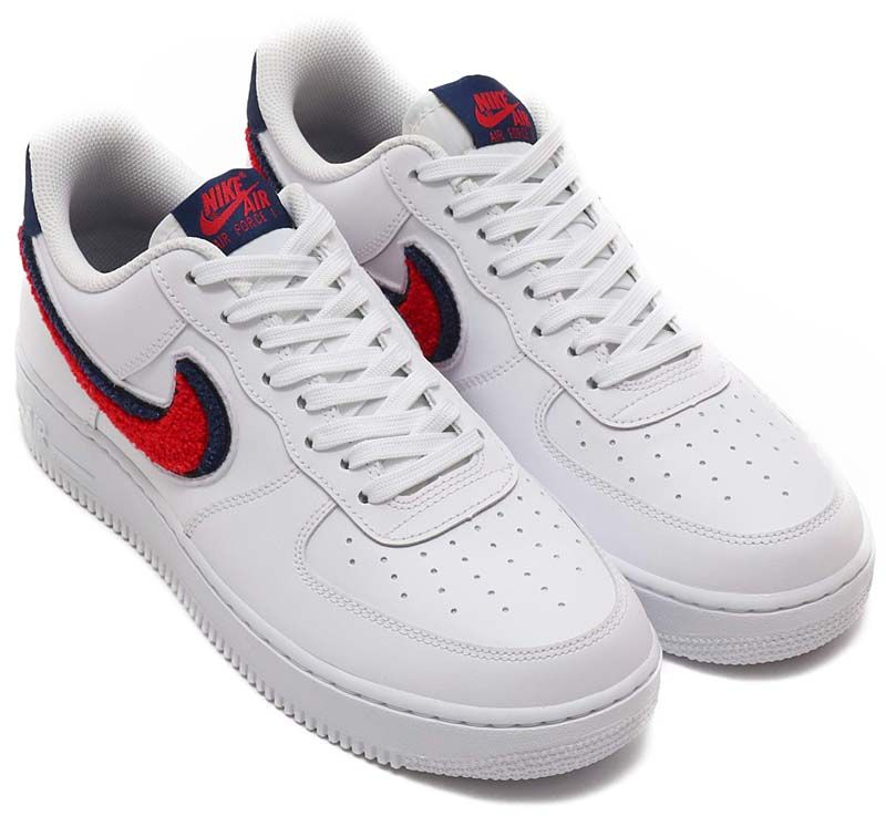 eff0ed6b9c6 NIKE AIR FORCE 1 07 LV8 [WHITE / UNIVERSITY RED-BLUE VOID] 823511-106