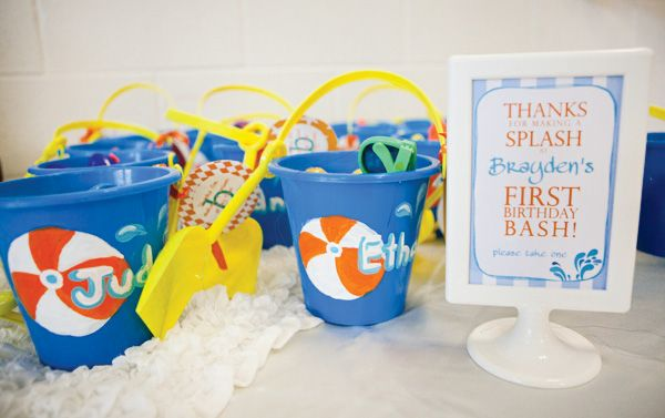 Pool Party Favors Ideas swimming pool party favors Creative Pool Party First Birthday