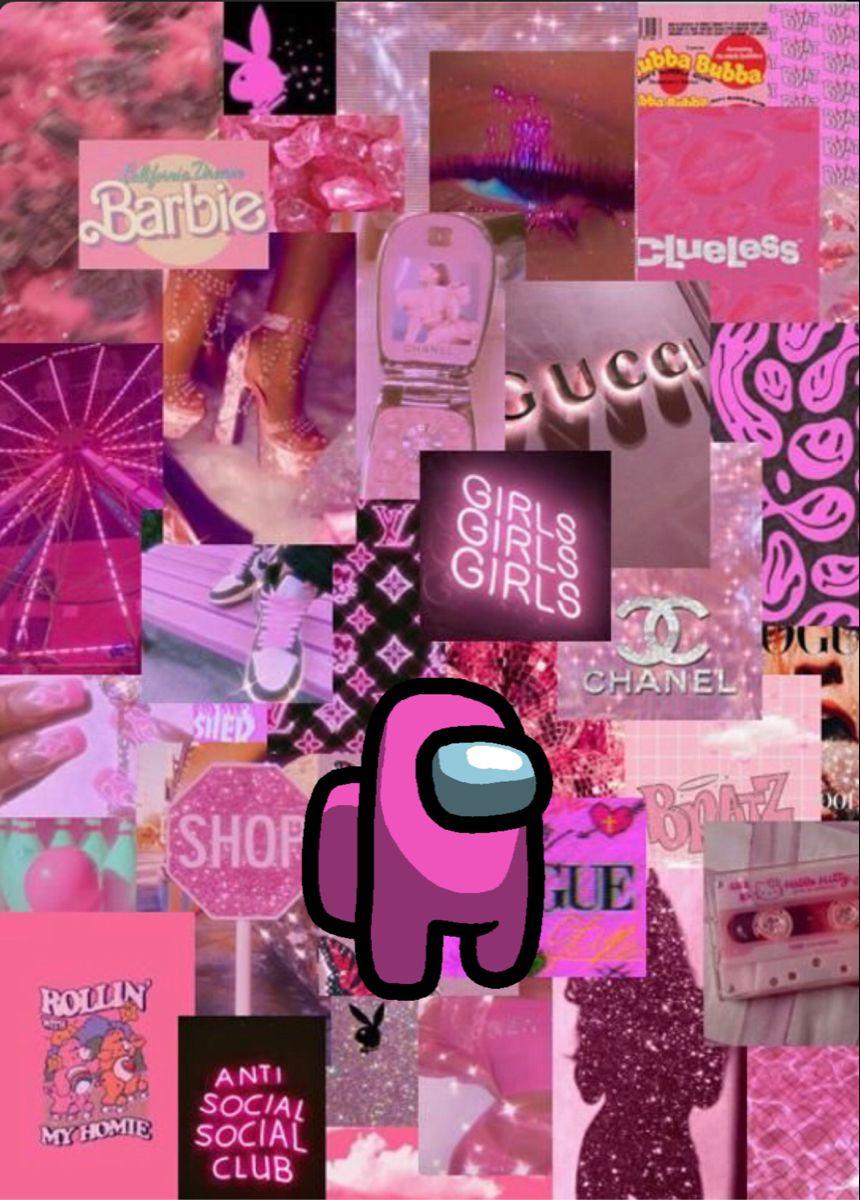 Among Us Wallpaper Pink Wallpaper Girly Pink Wallpaper Laptop Pink Wallpaper Iphone Anime, aesthetic, comic lo (magazine), skull. among us wallpaper pink wallpaper