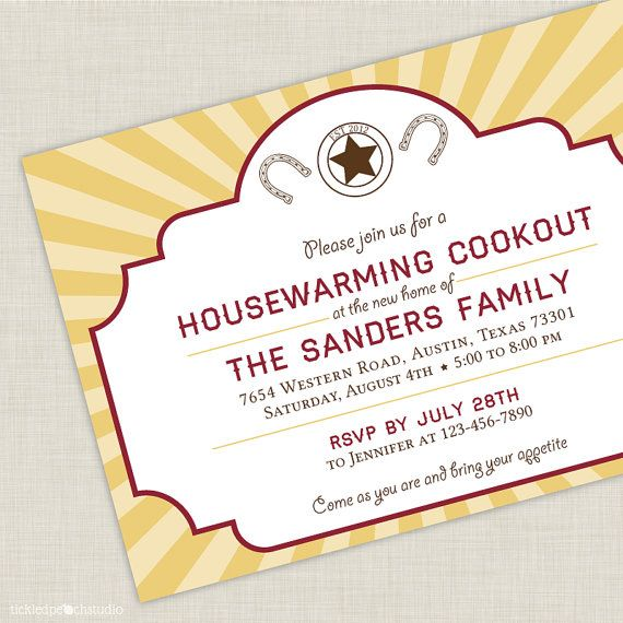 Housewarming Party Invitations Gifts House Warming Walnut