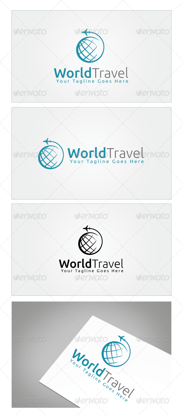 World Travel Logo Template