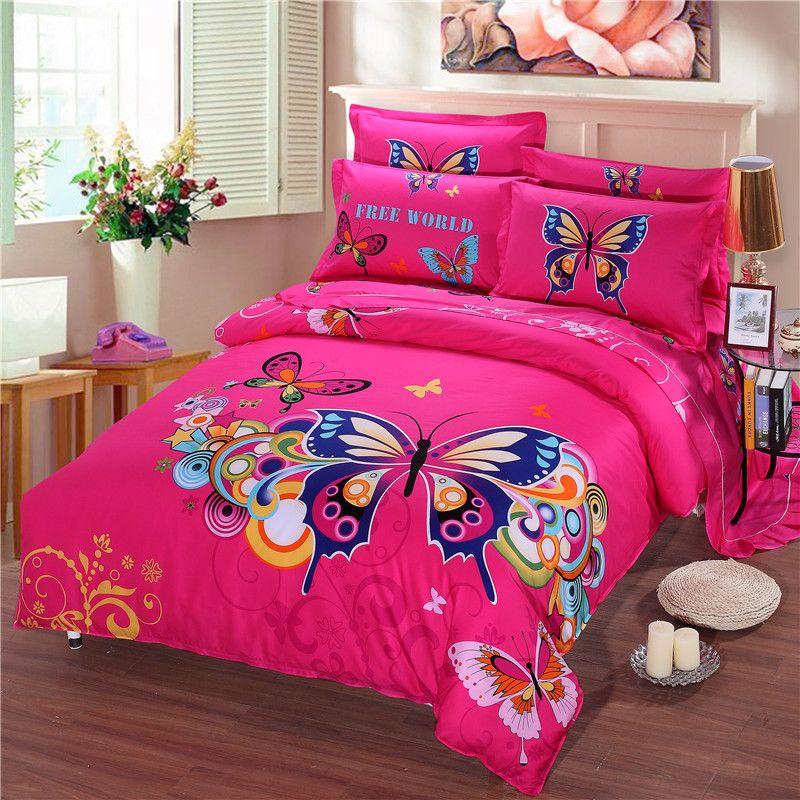 Popular Butterfly Comforter Set Buy Cheap Butterfly Comforter Set Kids Duvet Cover Duvet Cover Sets Bedding Sets