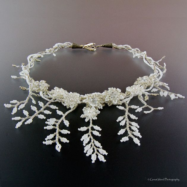 mlou jewelry Custom Design Bead Jewelry Nice example of leaf