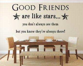 Good Friends Are Like Stars Wall Decal Custom Wall Decals Custom - Custom vinyl decal quotes