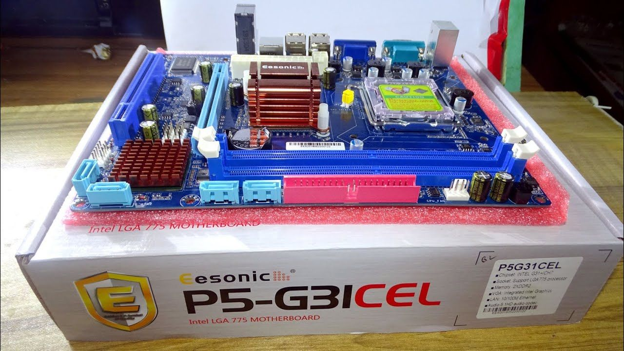 Esonic P5 G31cel Motherboard Unboxing 2019 Esonic P5 G31cel