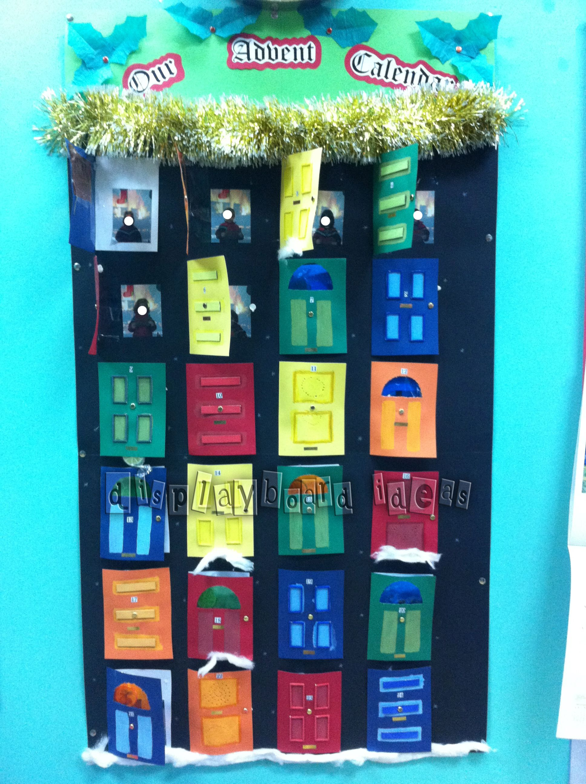 Advent Calendar School Ideas Classroom Displays School