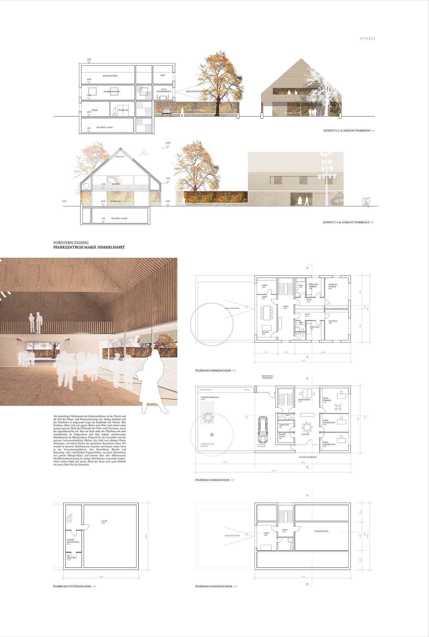 Ergebnis: Pfarrzentrum Mariä Himmelfahrt...competitionline #architektonischepräsentation