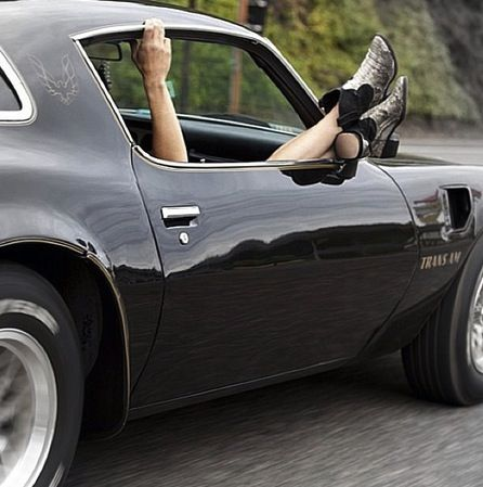 :) ride with your feet out the window