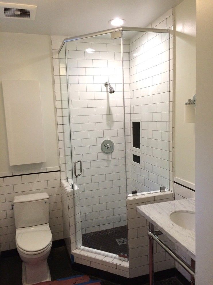 traditional simple small high end plumbing fixtures with toilet ...